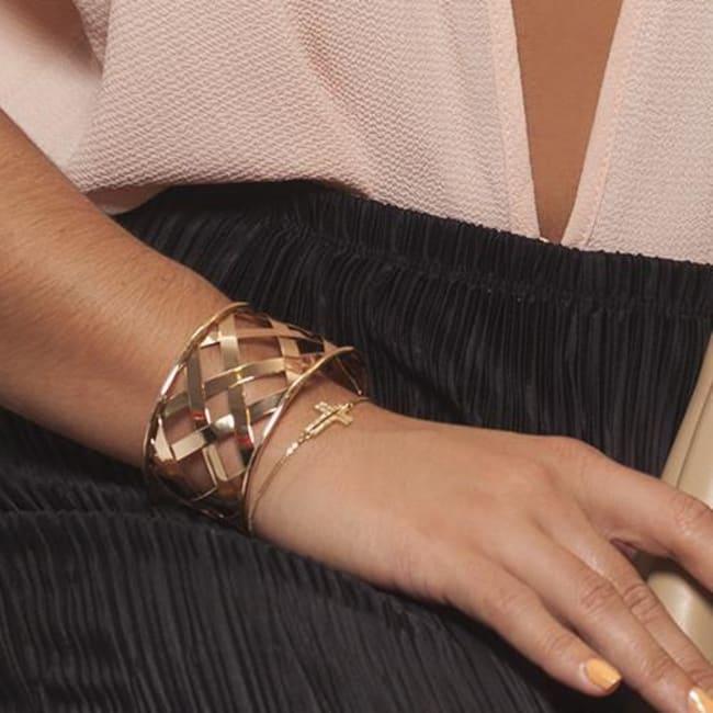 Cross Rhinestone Bracelet