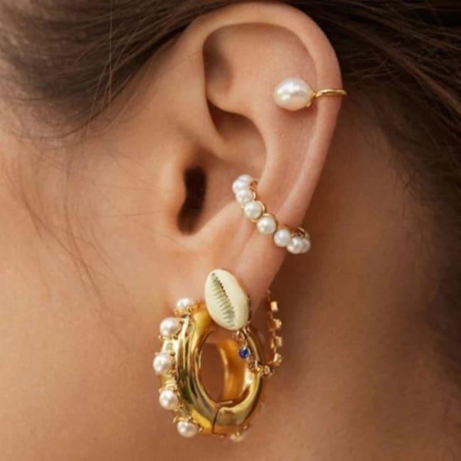 Gold Plated Dee Ear Cuff