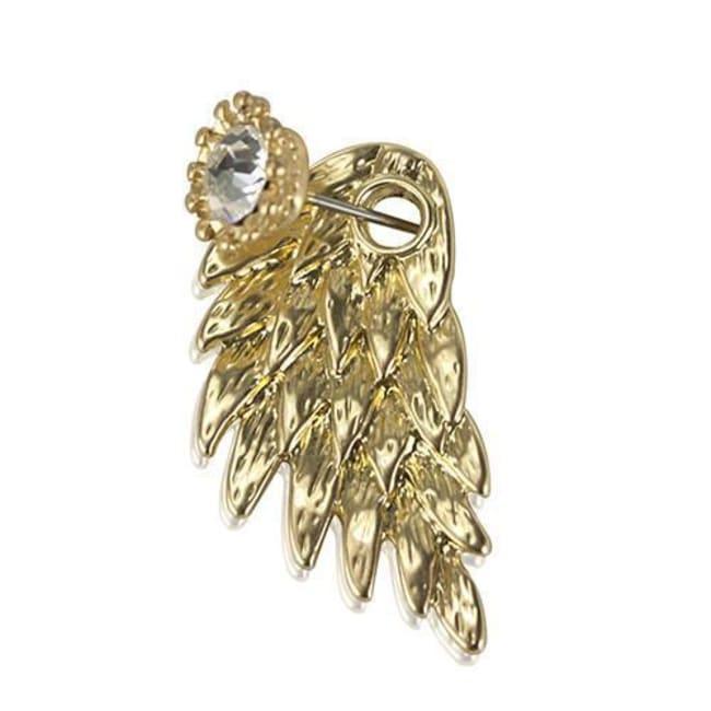 Mega Wing-Shaped Earrings - Gold