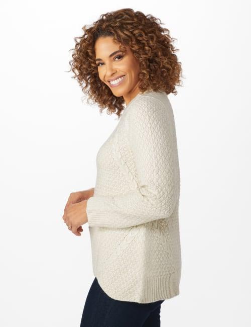 Lurex Sharkbite Pullover Sweater