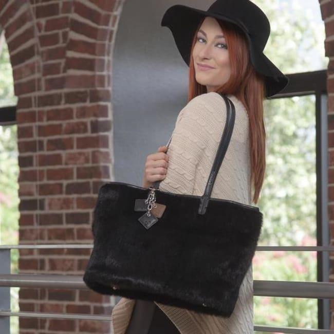 Olivia Fur and Leather Handbag