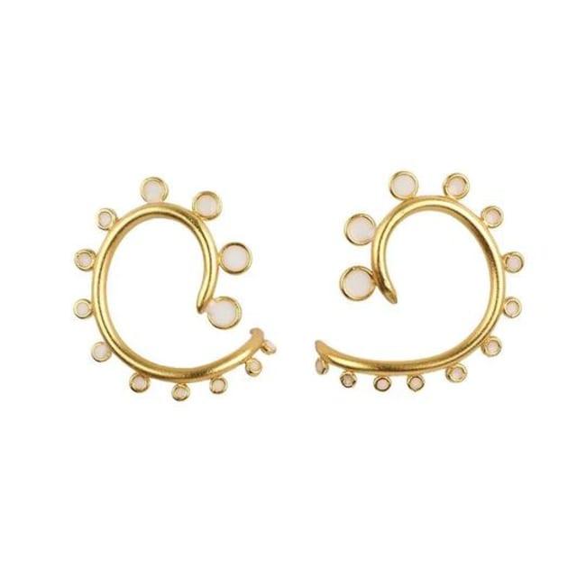 Gold Plated Snail Earrings