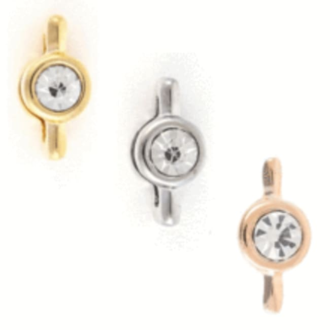 Rose Gold Plated Solitaire Charm