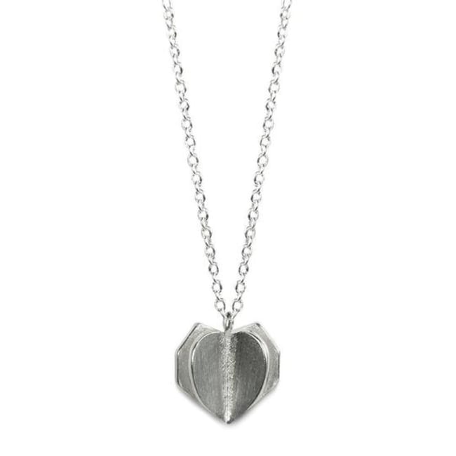 Sterling Sliver Double Heart Necklace