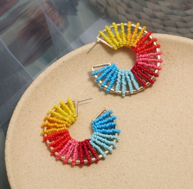 Gold Plated Wrapped Earrings