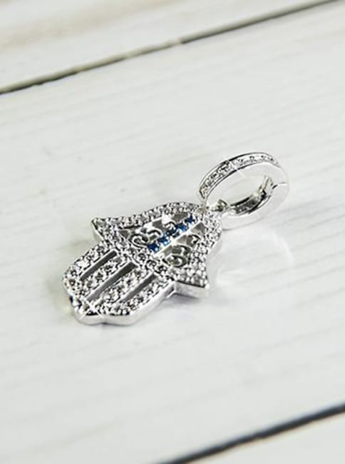 Blessing Hamsa Palm Charm Necklace