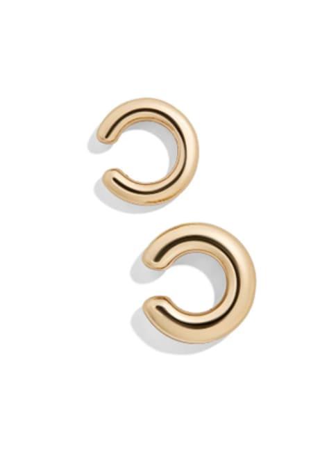 Gold Plating Matt Ear Cuffs