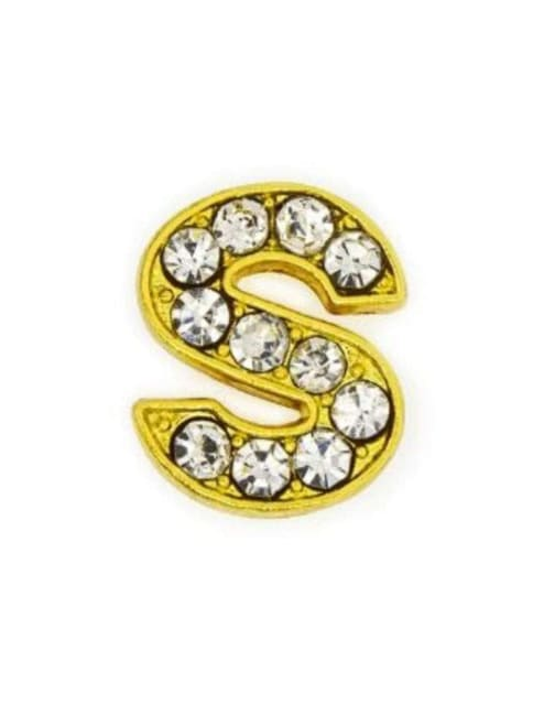 Pave Letter S - Gold Charm