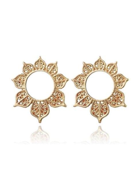Gold Plated Joan Post Back Earrings