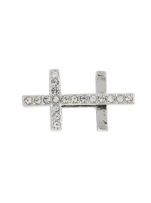 Pave Cross Charm