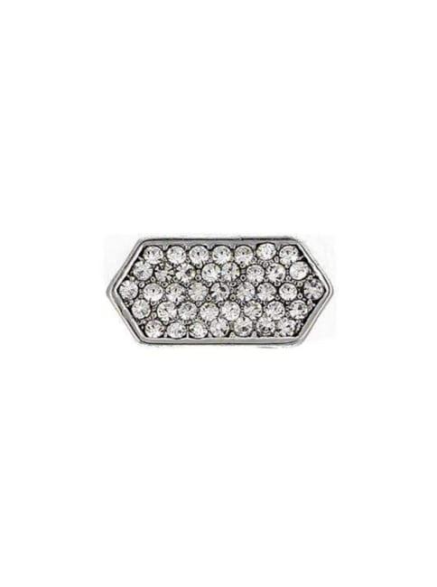 Pave Hexagon Charm