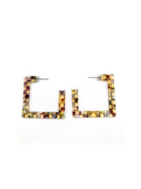 Lauren Resin Square Earrings
