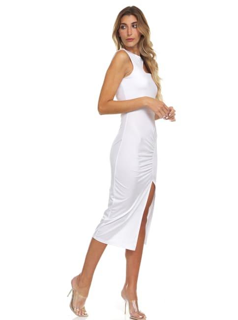 Side Slit Halter Dress