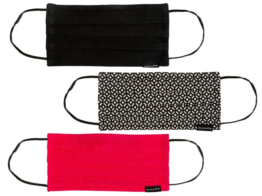 Champs - Ladies Cotton Triple Layer Mask 3 PC Set