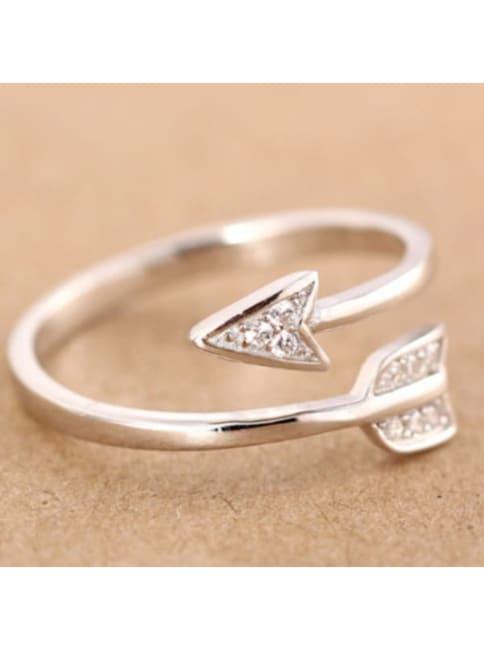 Arrow Rhinestone Ring