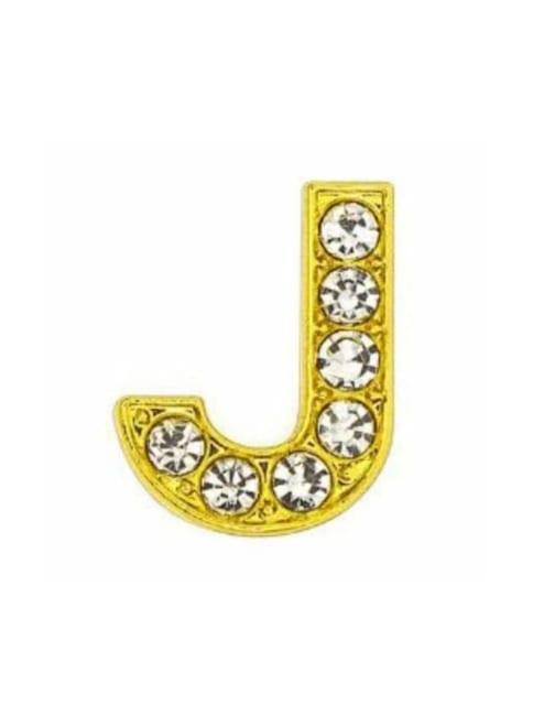 Pave Letter J - Gold Charm