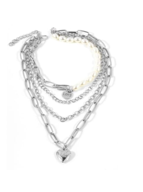 Jester Heart Pendant Necklace