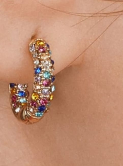 Gold Plated Rain Earrings