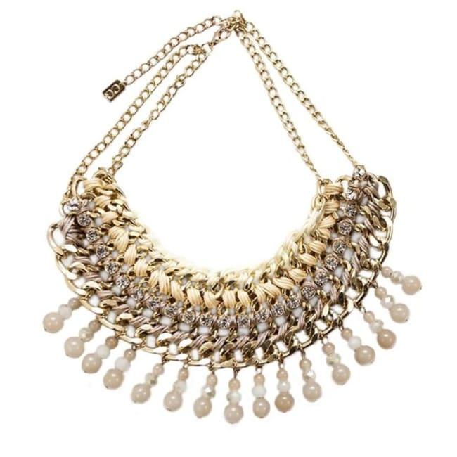 Lattice Necklace- Gold