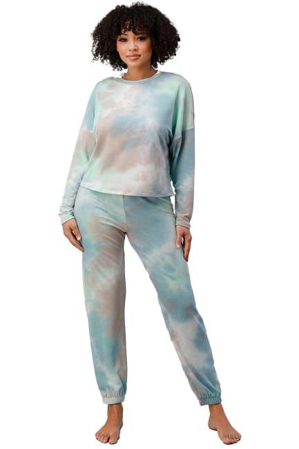 Tie Dye Lounge Wear Set Jogger Pj Pajama Set