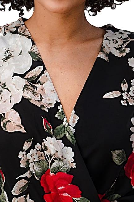 Wool Dobby Floral Bodysuit