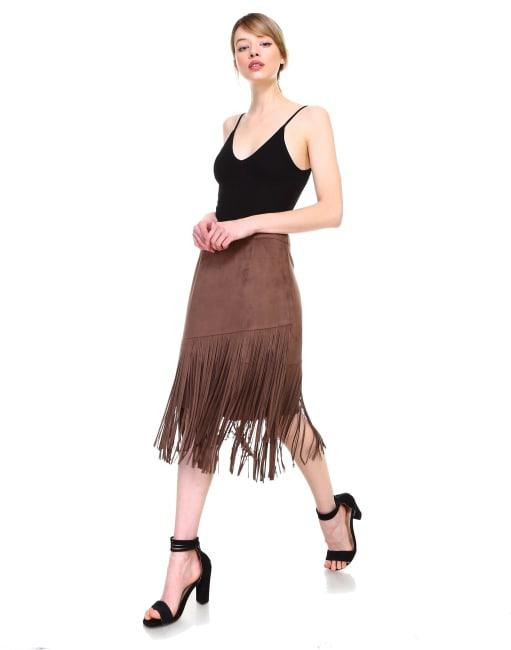 Amalia Fringe Skirt