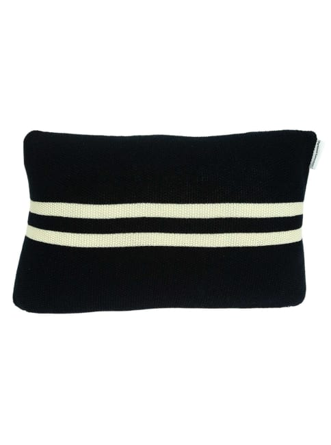 Nautical Navy Blue Stripe and Anchor Pillow Cover