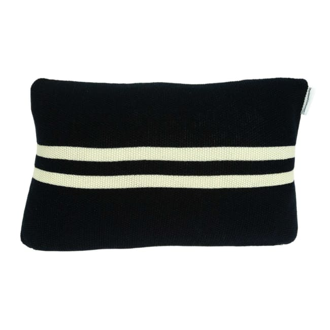 Black and Gold Anchor Decorative Pillow