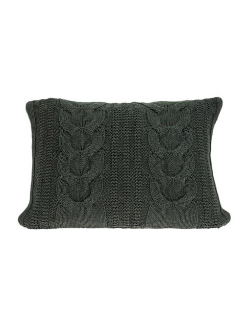 Gray Sweater Knit Lumbar Accent Pillow Cover