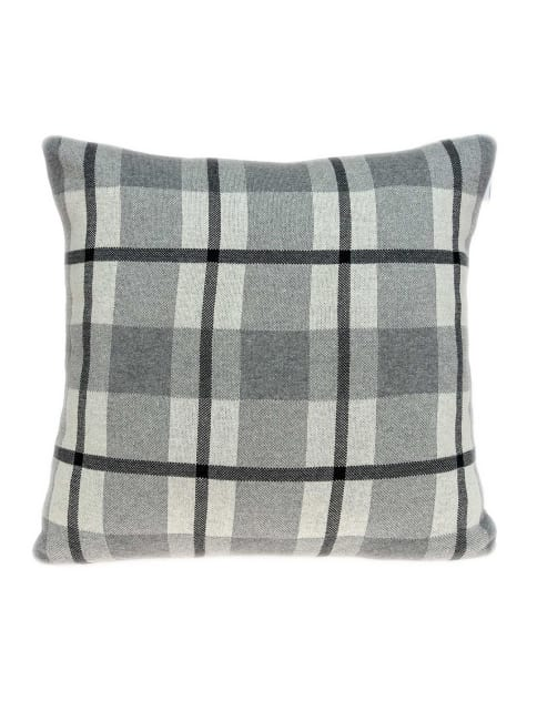 Grey Pillow Cover With Down Insert