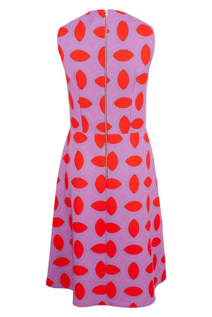 Purple Asymmetric Detail V-Neck Dress