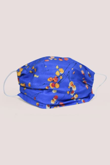 Mid Blue Double Layer Fabric Face Mask