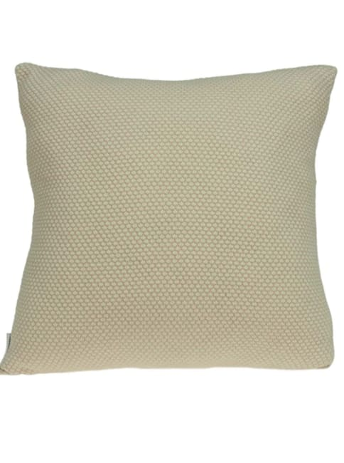 Casual Square Sweater Knit Beige Accent Pillow Cover