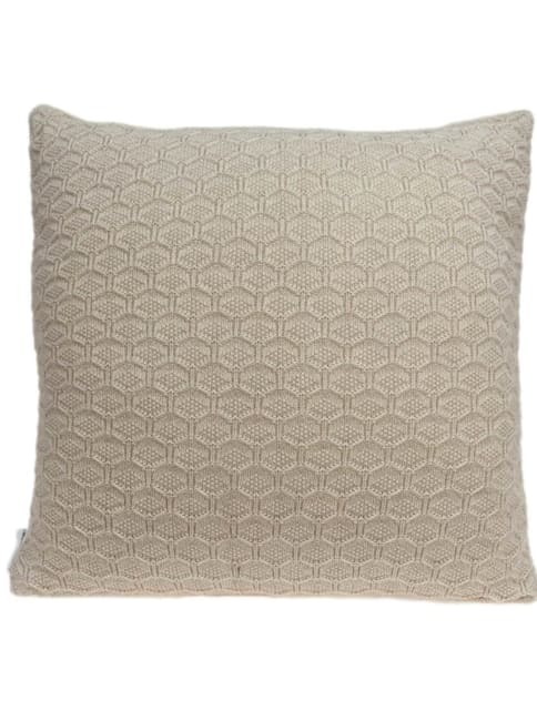 Casual Tan Honeycomb Design Square Accent Pillow Cover
