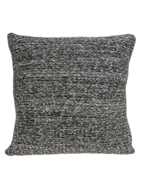 Square Gray And Black Weave Accent Pillow Cover