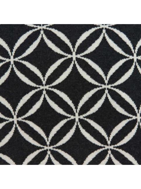 Geometric Design Black and White Cotton Pillow Cover