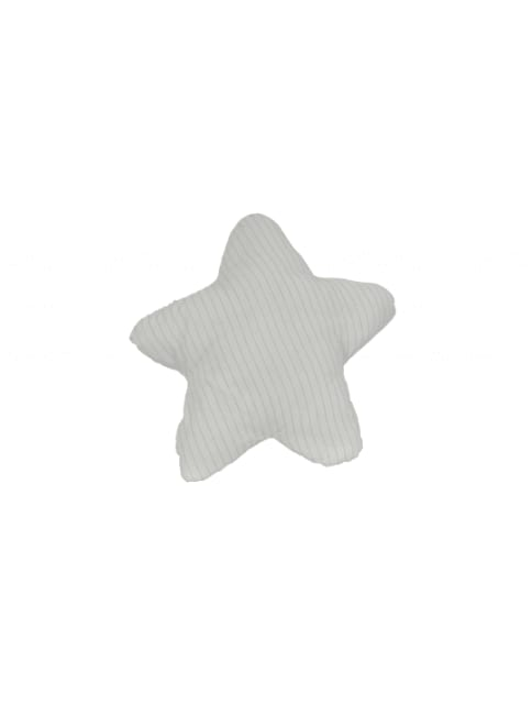 White with Blue 3D Shape Star Pillow