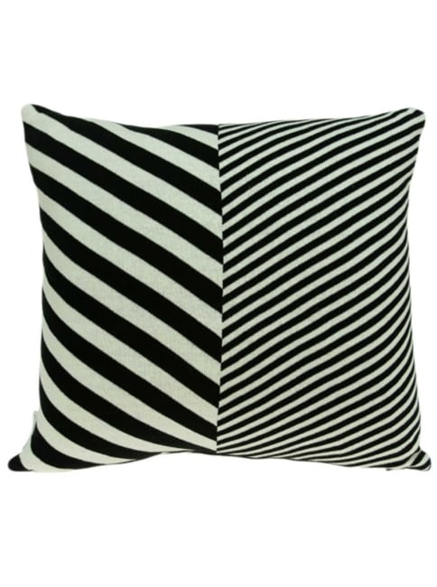 Contemporary Square Black and White Accent Pillow Cover