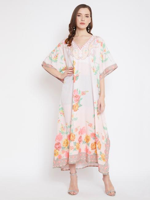 Floral Handmade Kaftan Dress