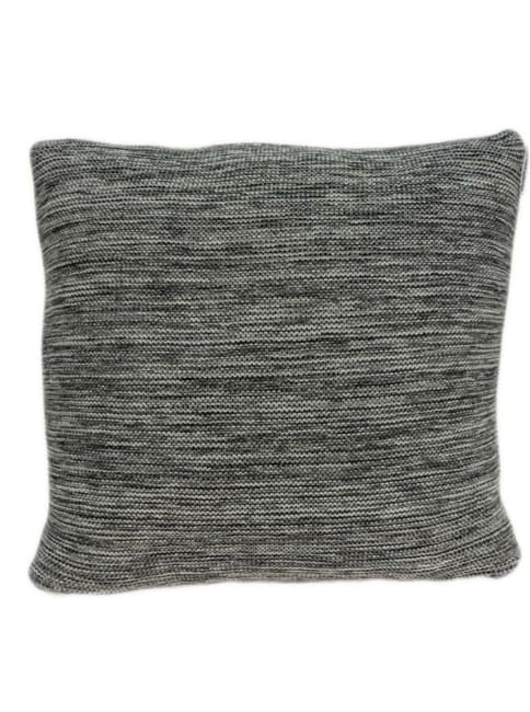 Casual Square Heather Gray Accent Pillow Cover