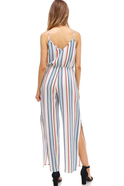 Multi Stripe Cami Jumpsuit