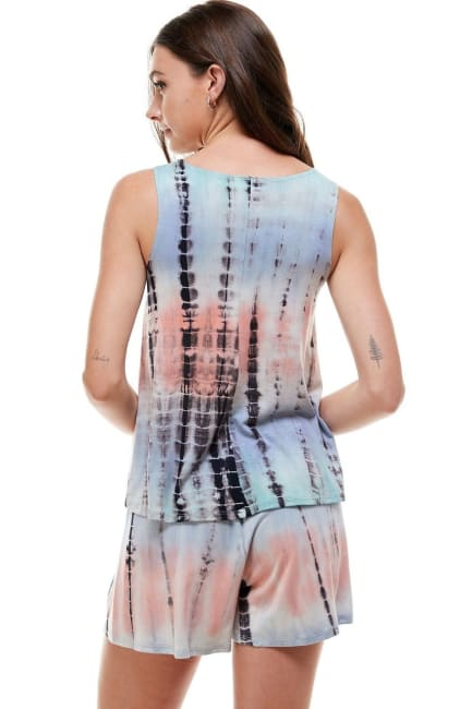 Loungewear Set For Women's Tie Dye Pajama