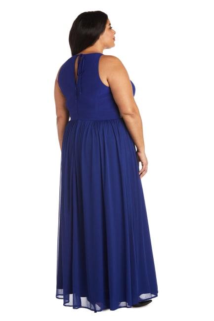 Maxi Dress with Keyhole Cutout - Plus