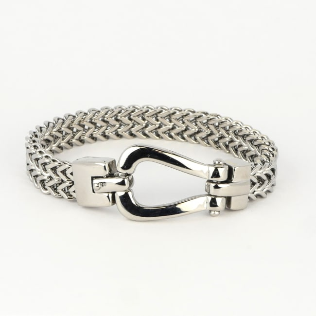 Dell Arte by Jean Claude Stainless Steel Horseshoe Closure