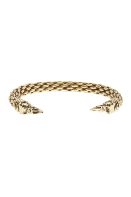 Dell Arte by Jean Claude Bronze Incrusted Lucky Vikings Eagle Bangle