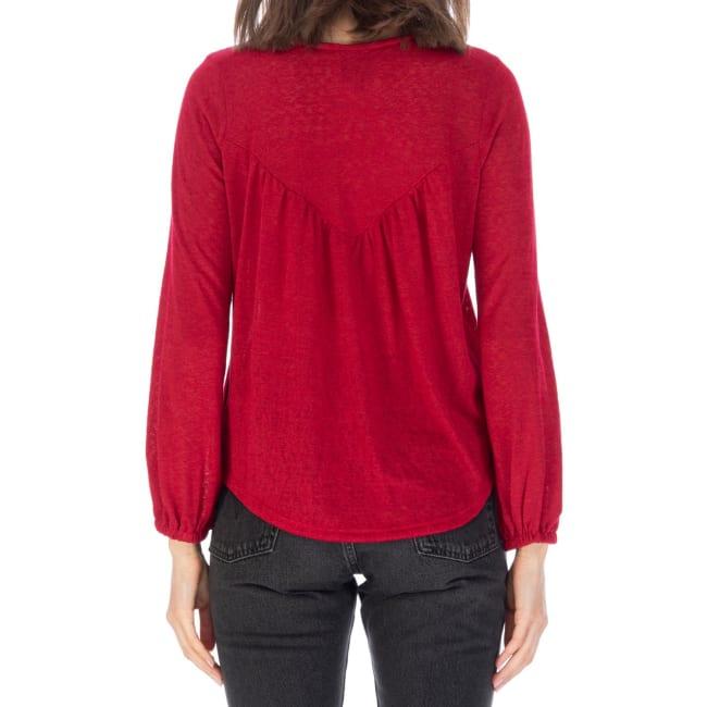 Shirred Back Knit Top