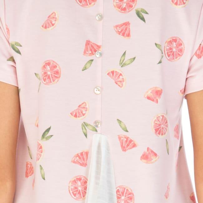 2-Fer Short Sleeve Print Top