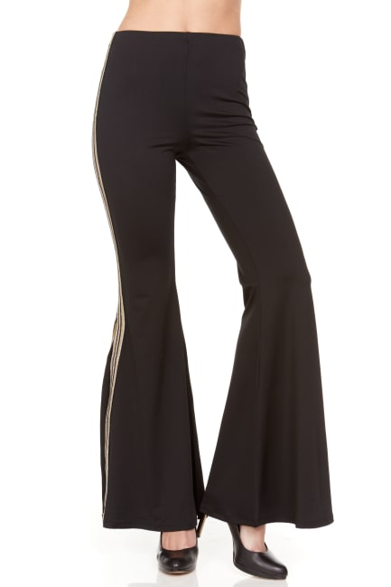 Wide Leg Pull On Pant With Novelty Flare