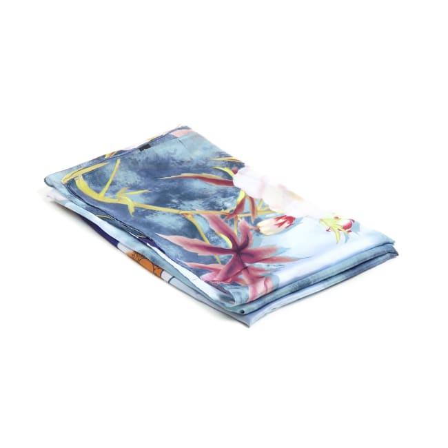 Soft Floral Vintage Pashmina Silk Scarf