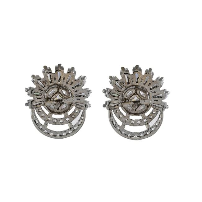 Floral Cubic Zirconia Diamond Earrings